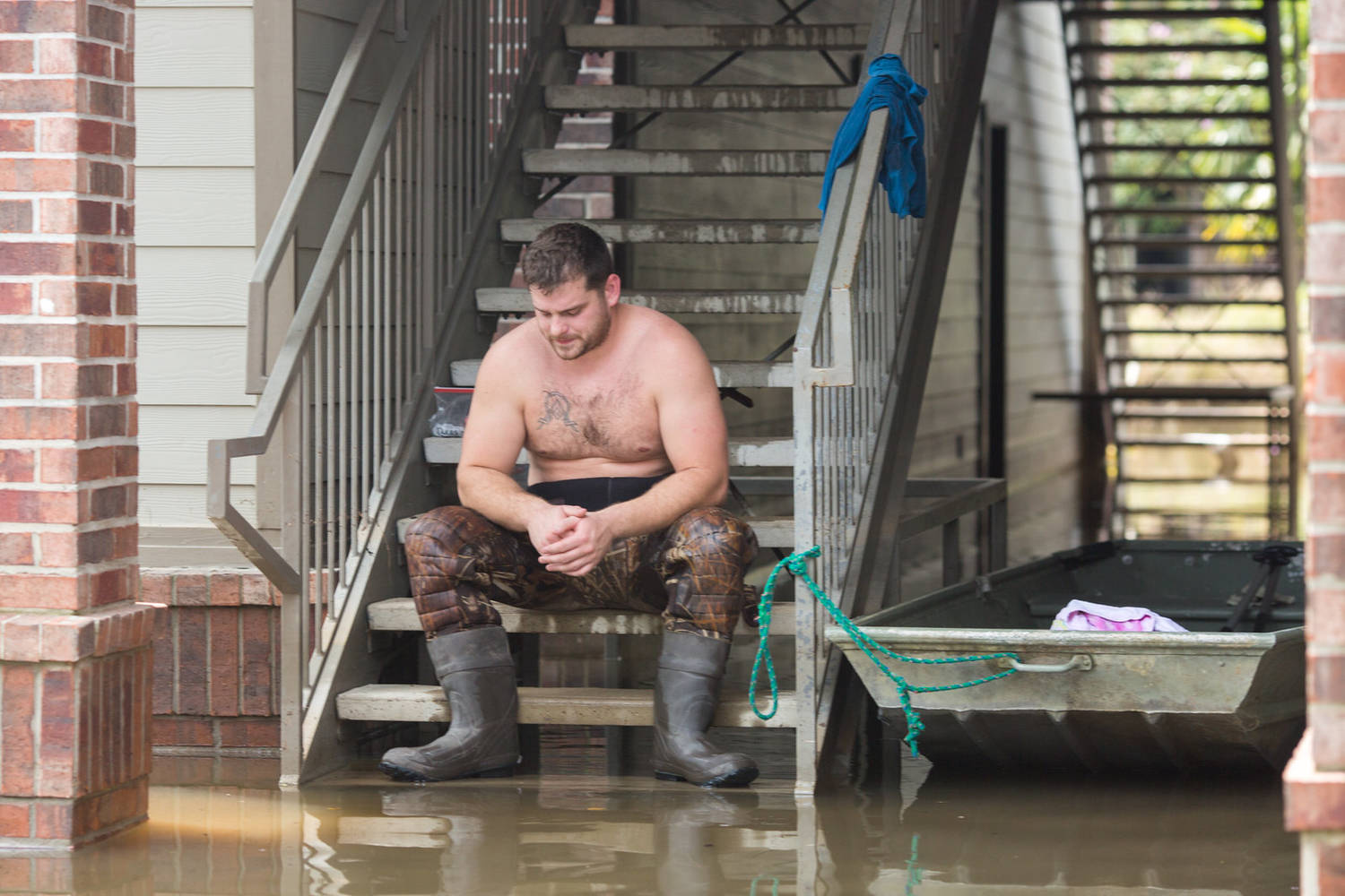 Flooded Neighborhoods in Houston (Examples From Central Houston)
