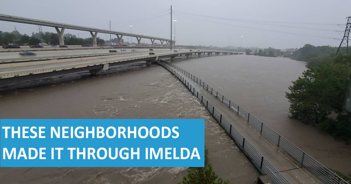 Houston Neighborhoods With Little To No Flooding From Imelda