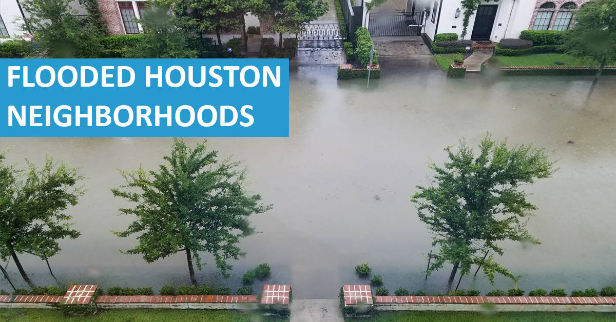 Houston Neighborhoods That Flooded Due To Imelda