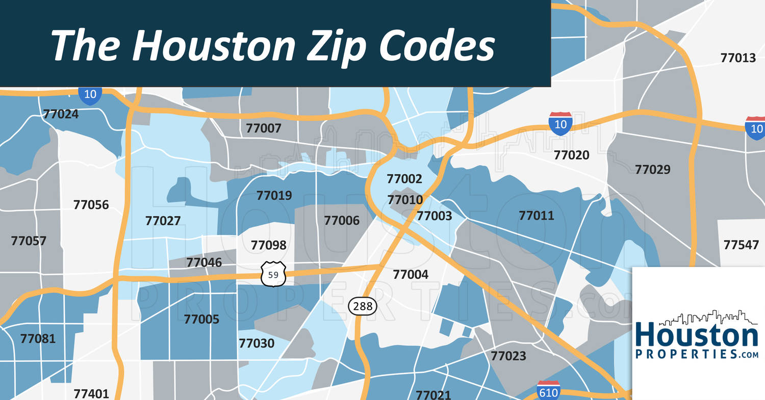 2020 Update Houston Texas Zip Code Map Houstonproperties