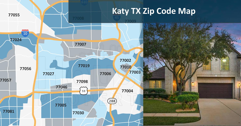 Bonus: Katy TX Zip Code Map