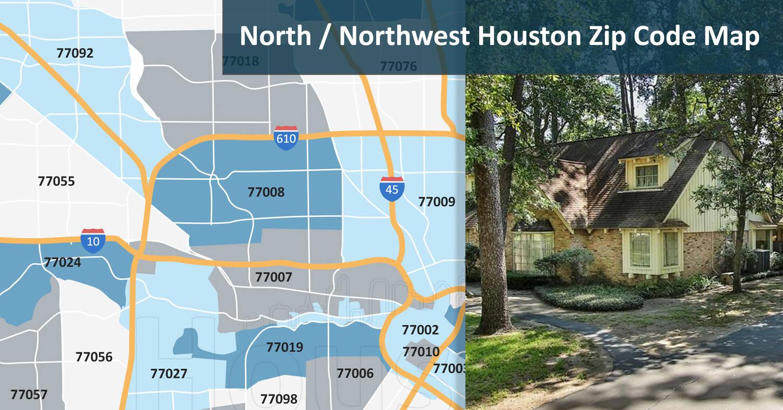 North/Northwest Houston Zip Code Map