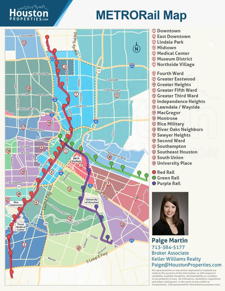 Houston Neighborhoods Near The METRORail
