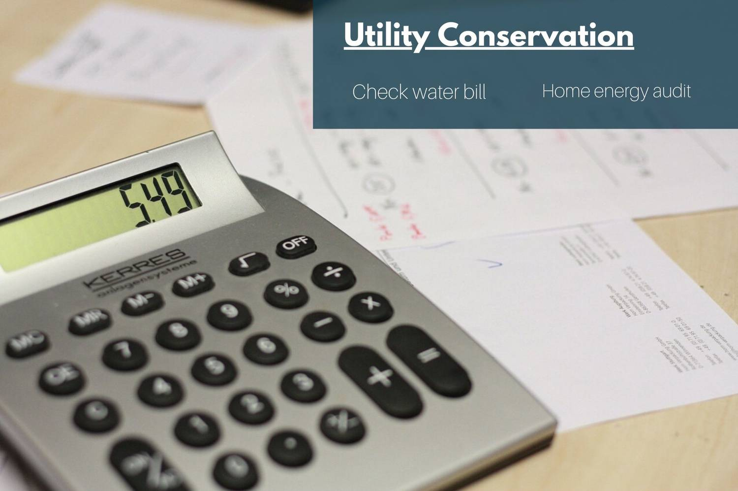 BONUS TIPS: Utility Conservation