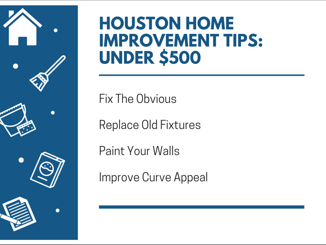 Houston Home Renovation Tips: Under $500