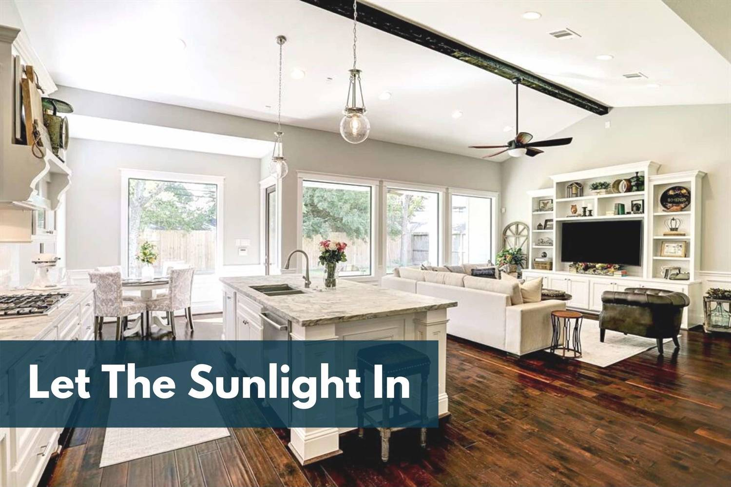 Houston Home Staging Hack: Let Natural Light In