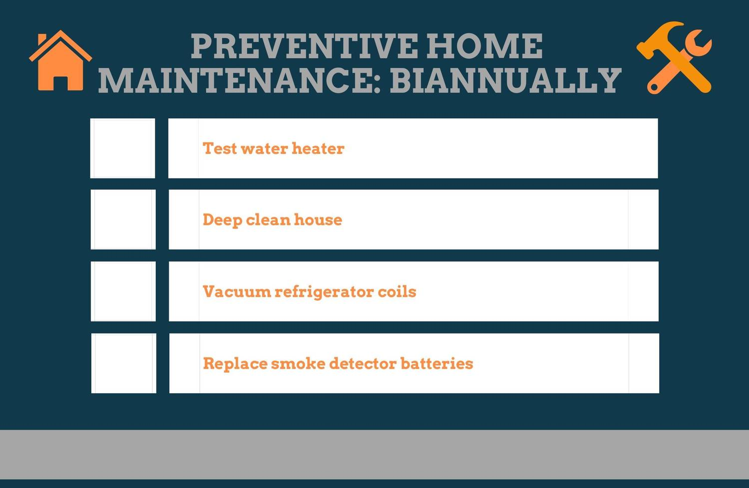 Biannual Preventive Home Maintenance