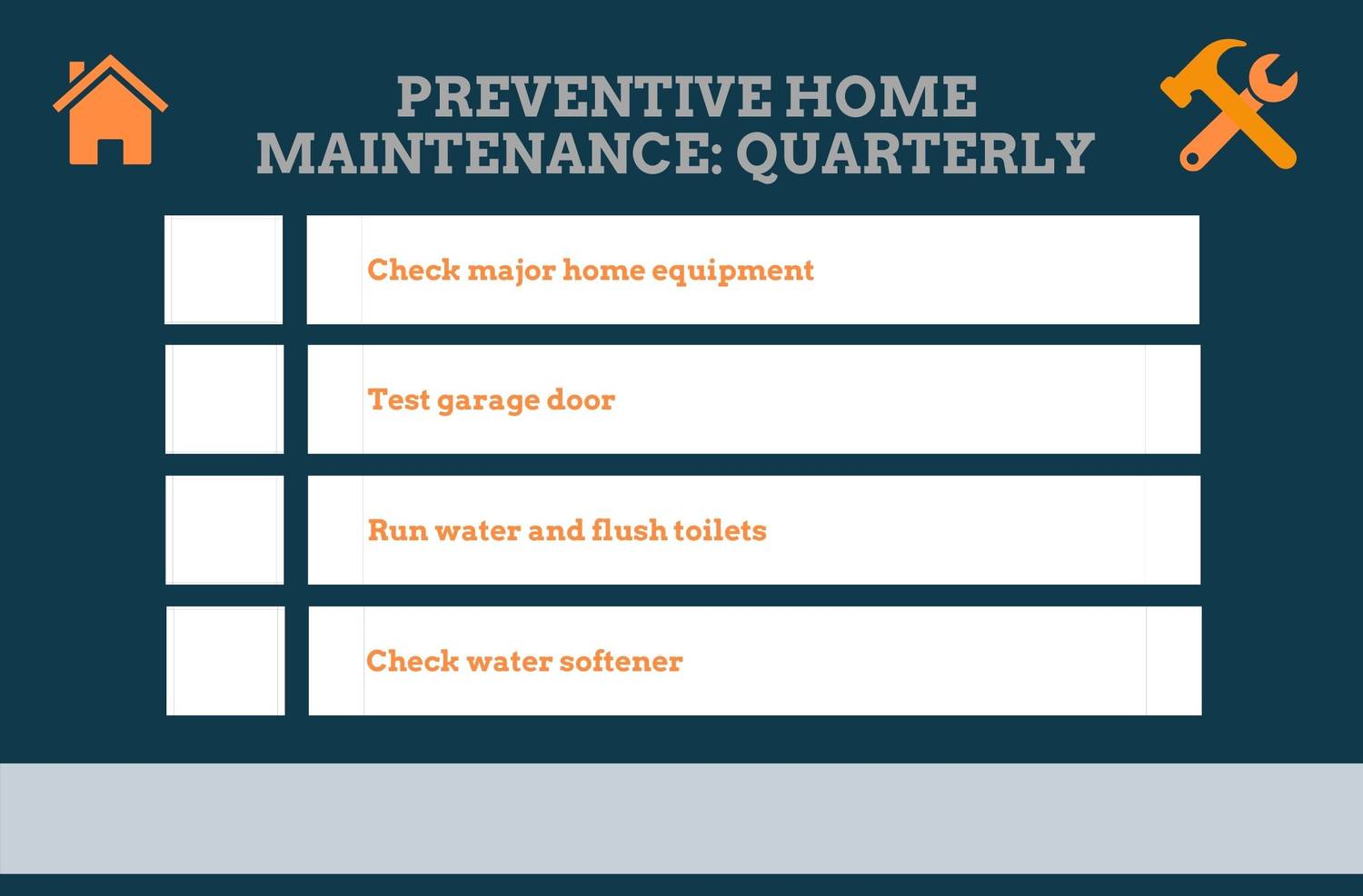 Quarterly Preventive Home Maintenance