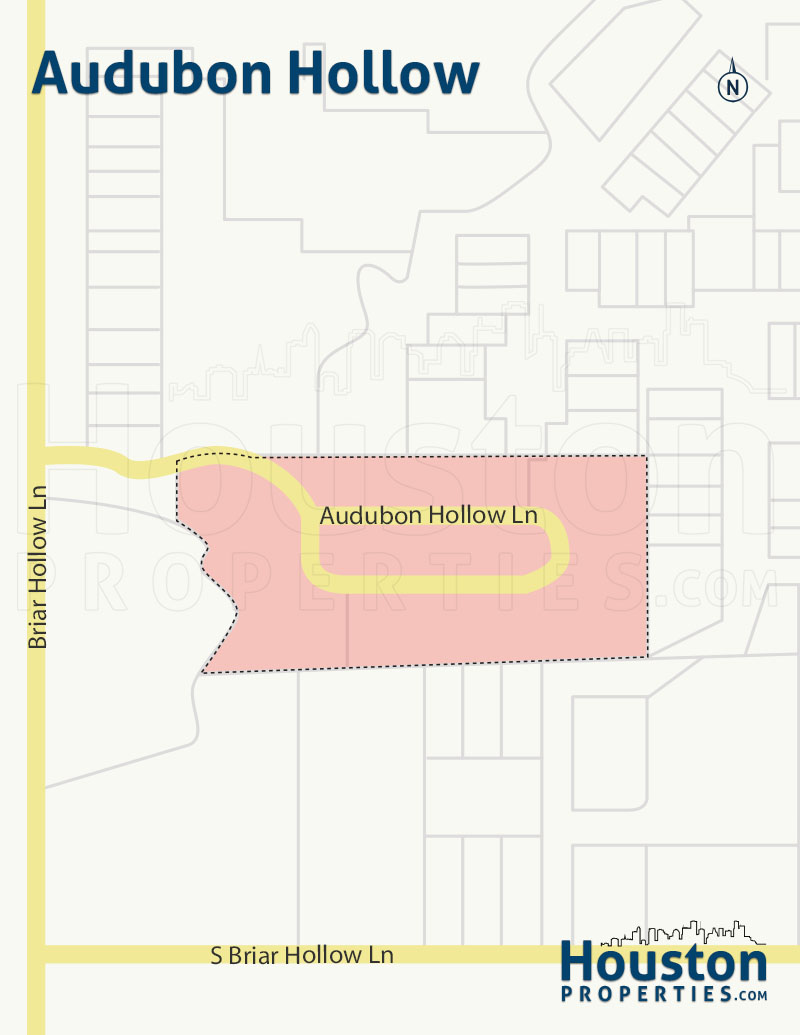 Map of Audubon Hollow