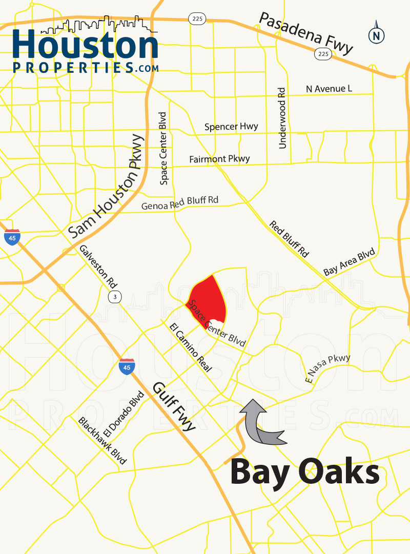 Bay Oaks Map