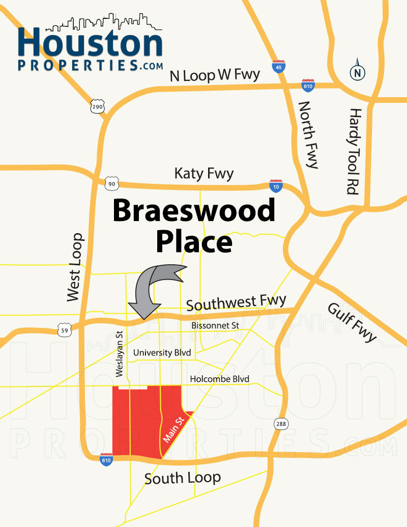 Braeswood Place Map