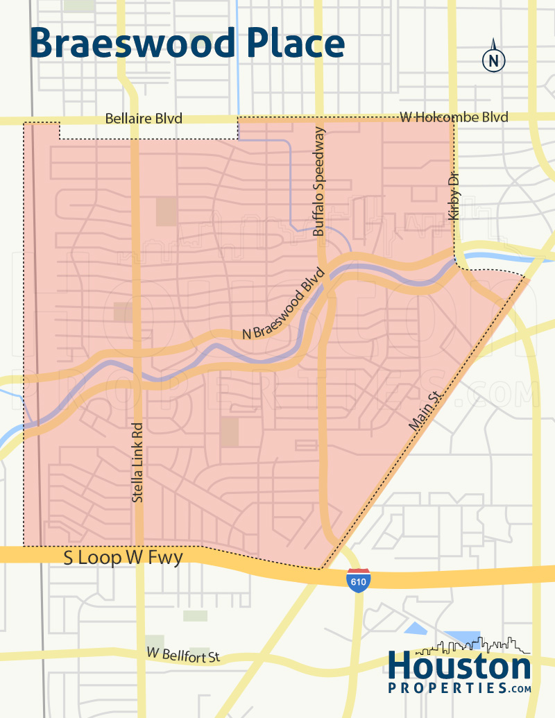 Map of Braeswood Place