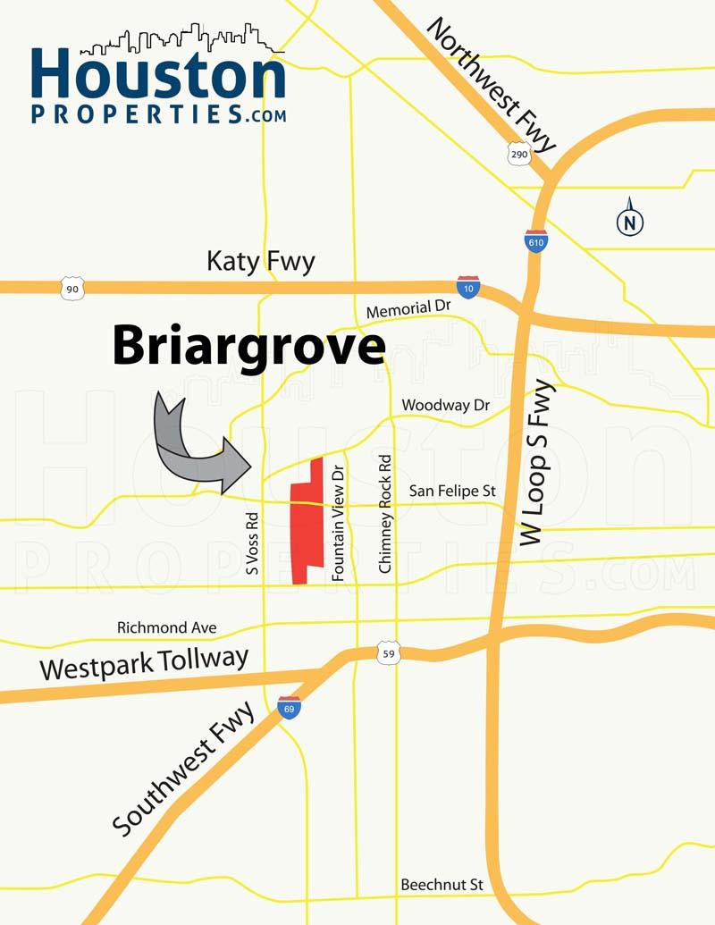 Briargrove Map