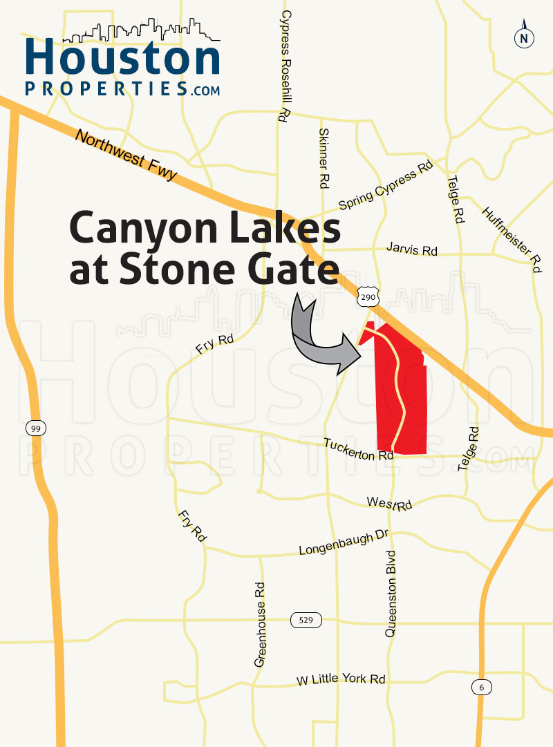 Canyon Lakes At Stonegate Map
