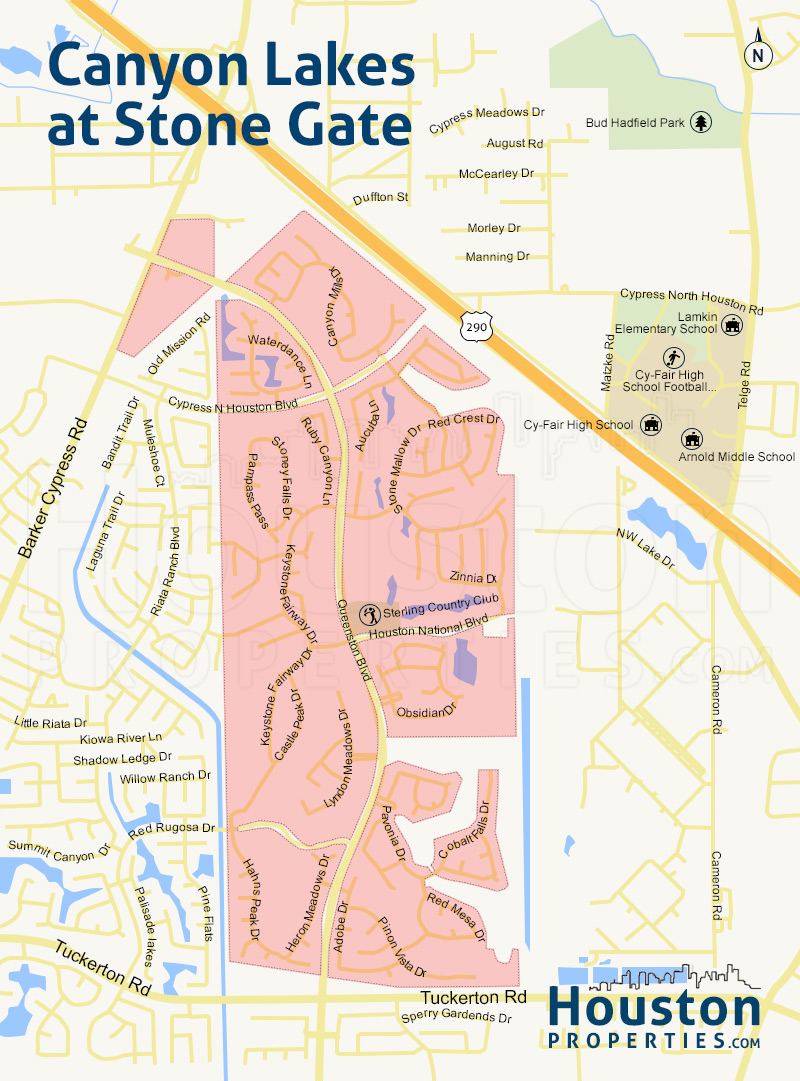 Map of Canyon Lakes At Stonegate