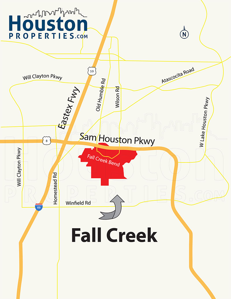 Fall Creek Map