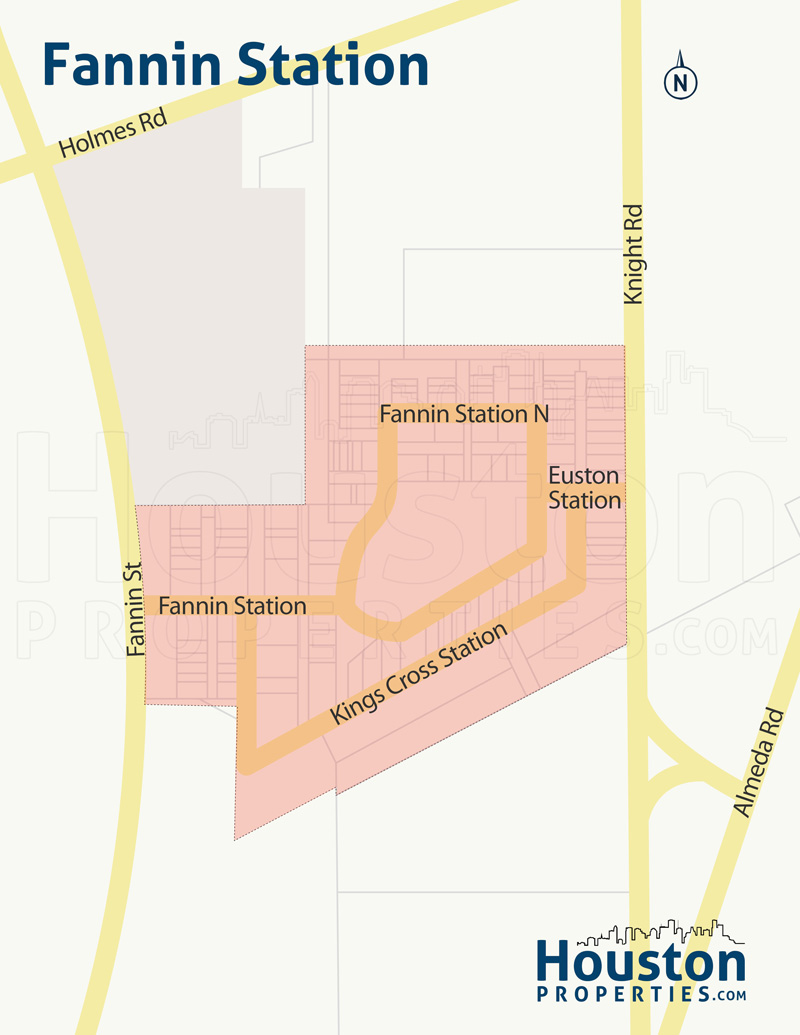 Map of Fannin Station