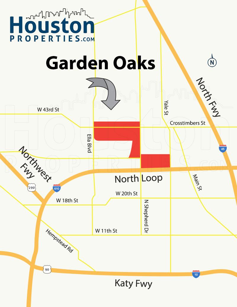 Garden Oaks Map