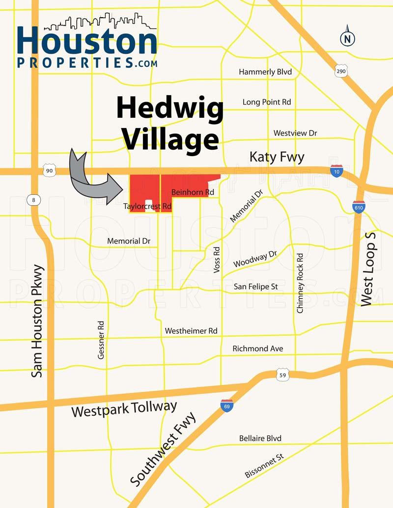 Hedwig Village Map