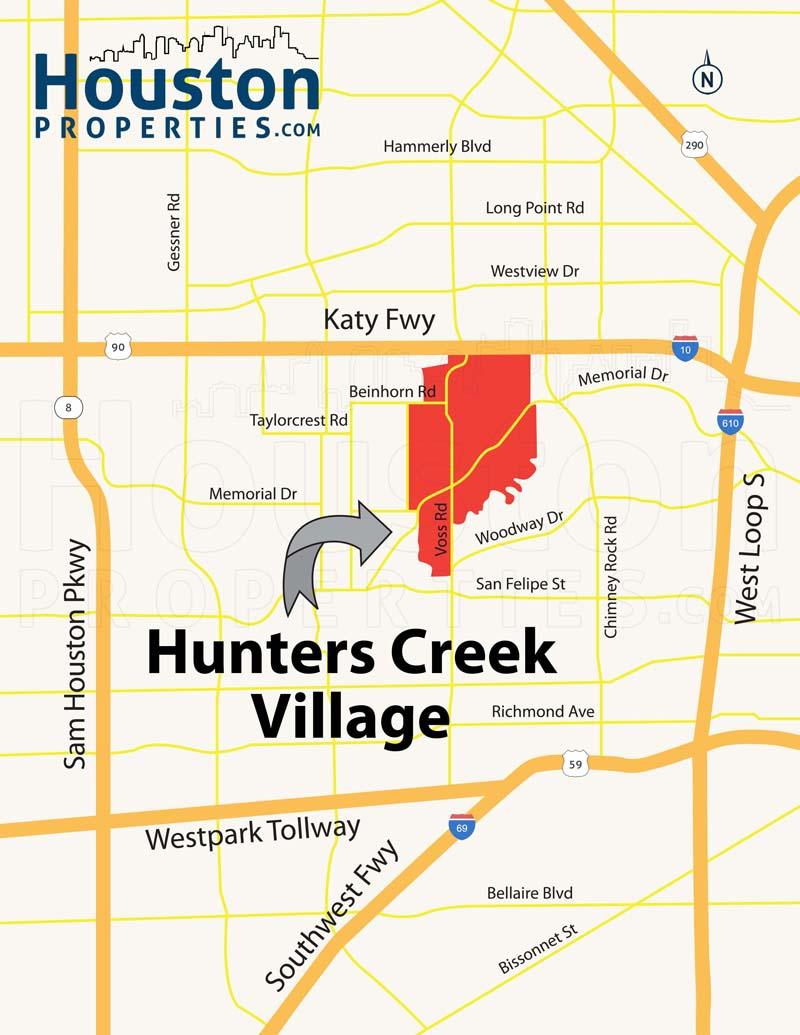 Hunters Creek Map