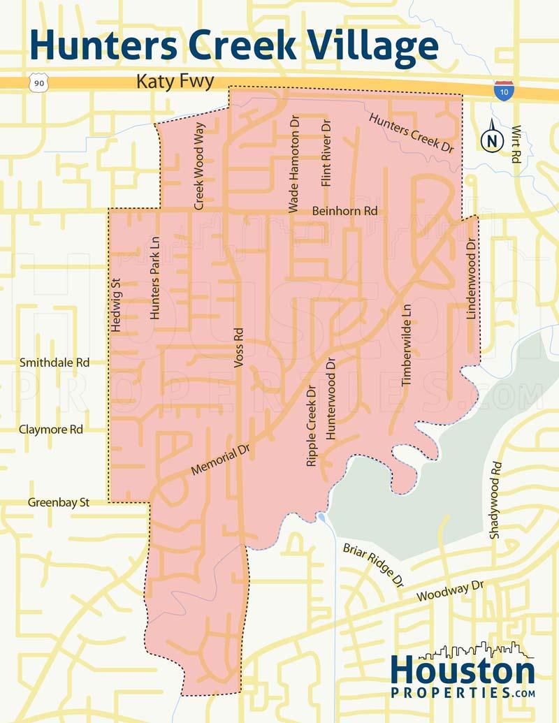 Map of Hunters Creek