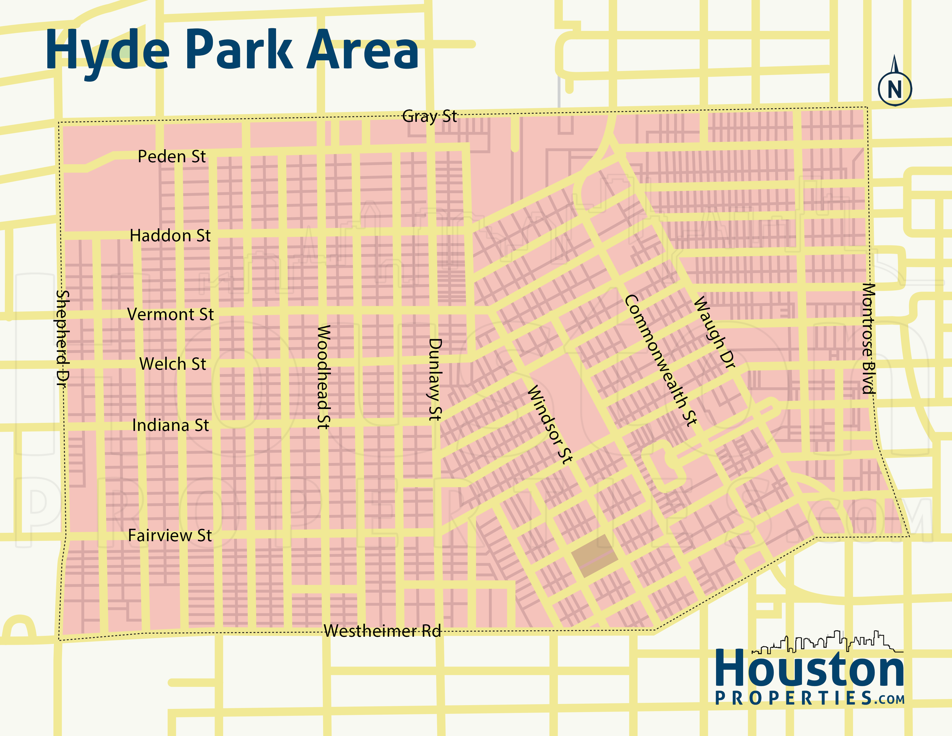 Map of Hyde Park