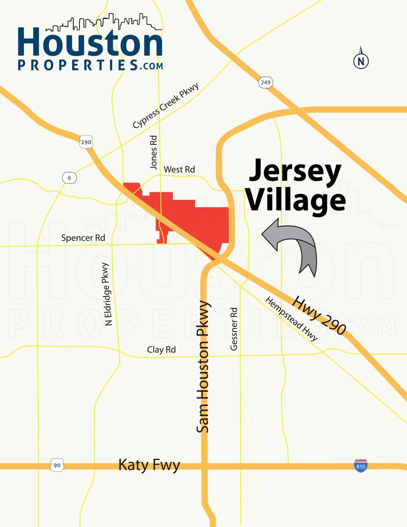 Jersey Village Map