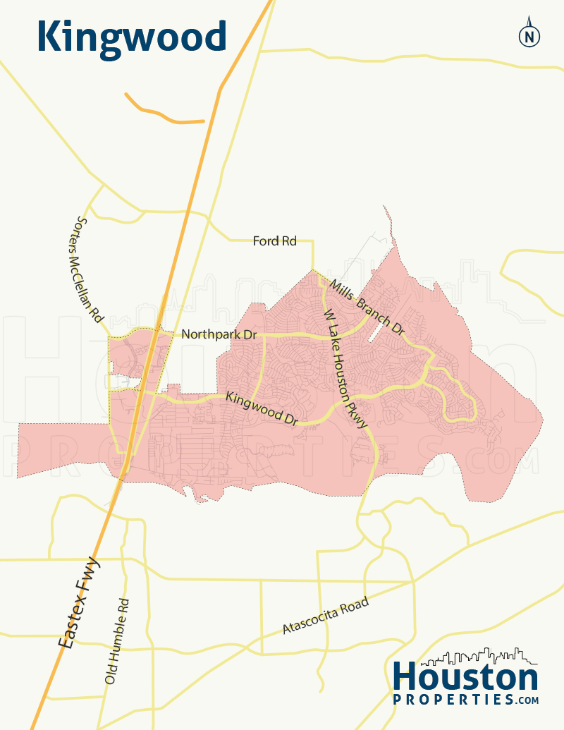 Map of Kingwood