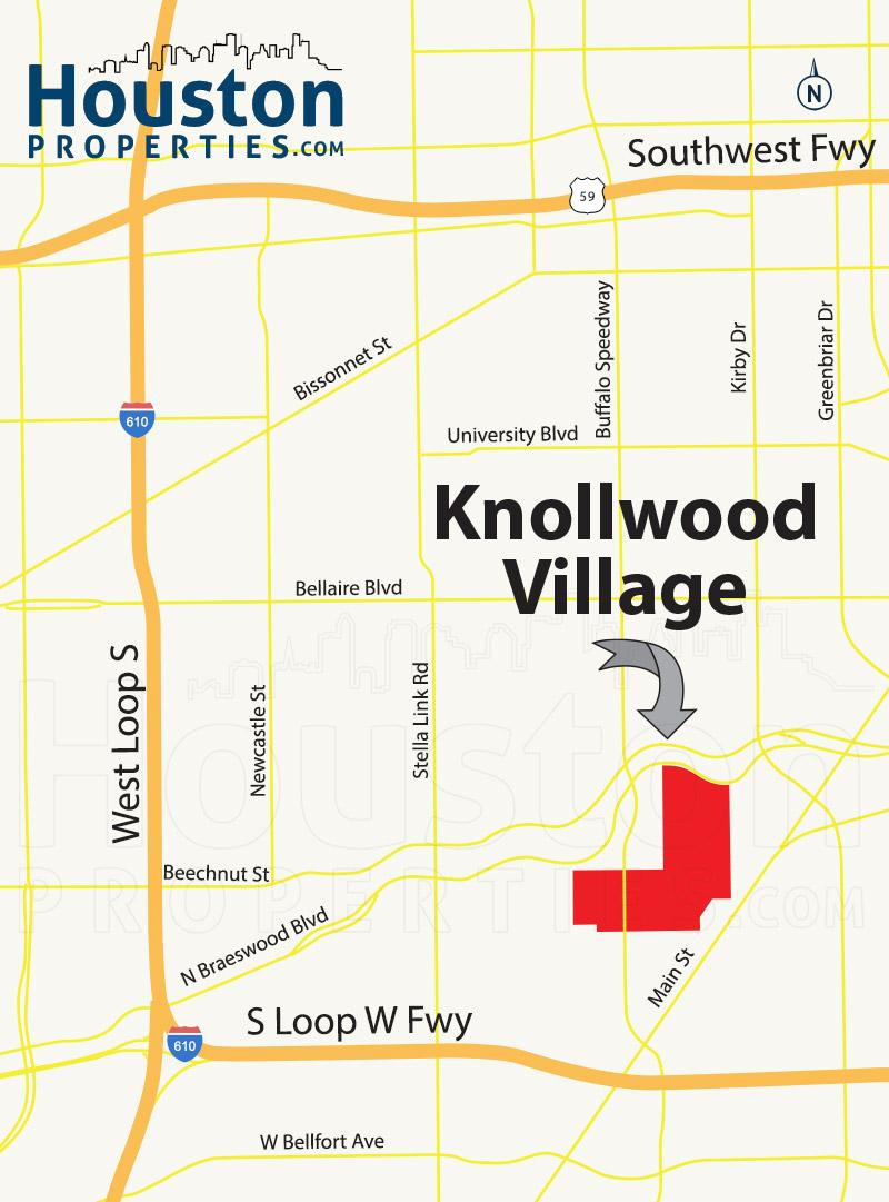 Knollwood/Woodside Area Map