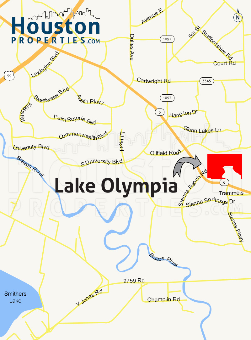 Lake Olympia Map