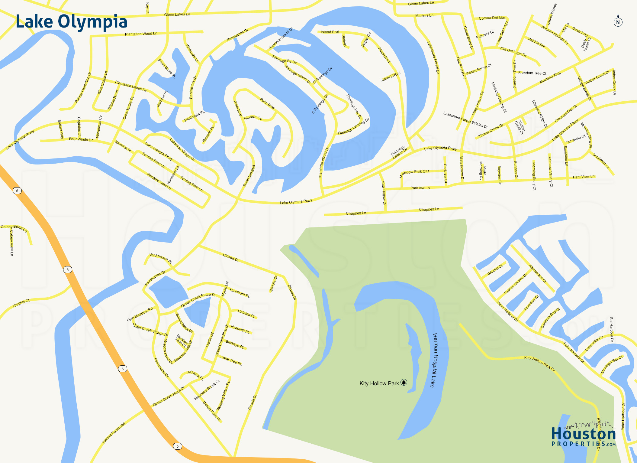 Map of Lake Olympia