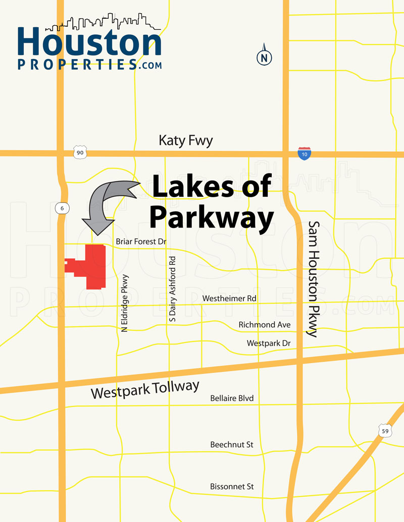 Lakes of Parkway Map