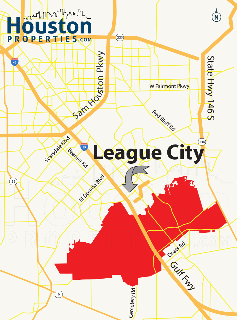 League City Map