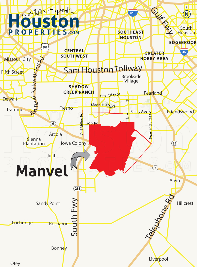 Manvel Map