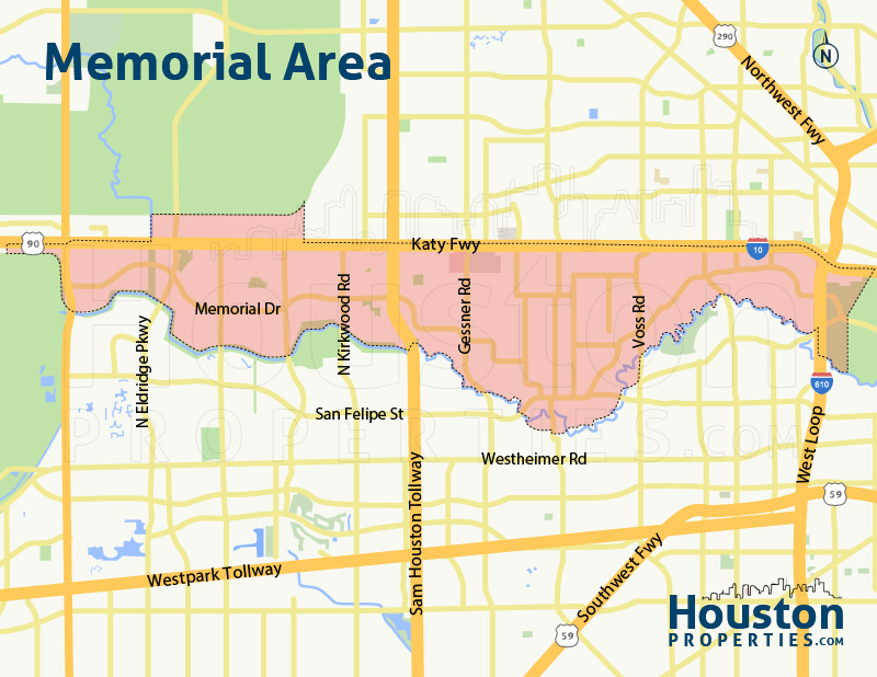 Map of Memorial Close In