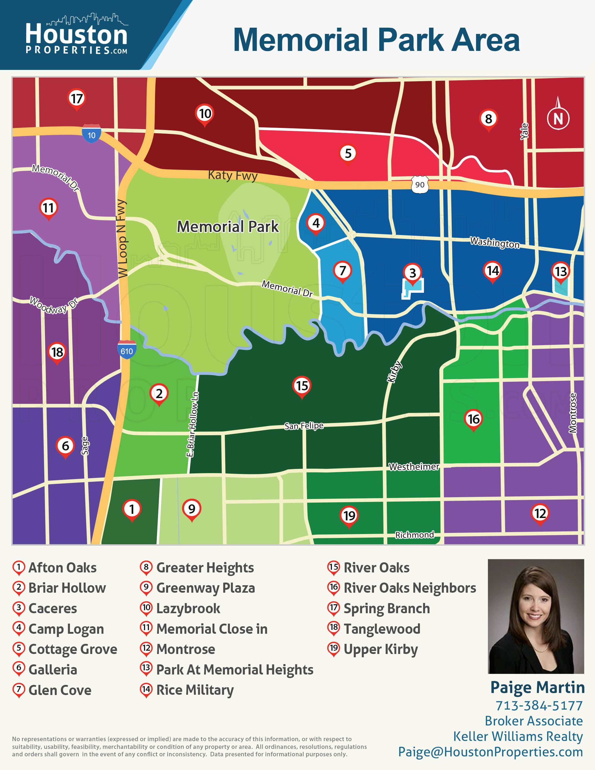 Map of Memorial Park