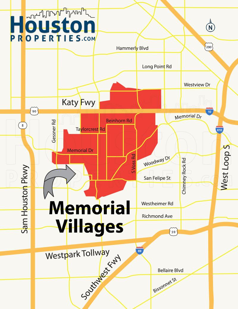 Memorial Villages Map