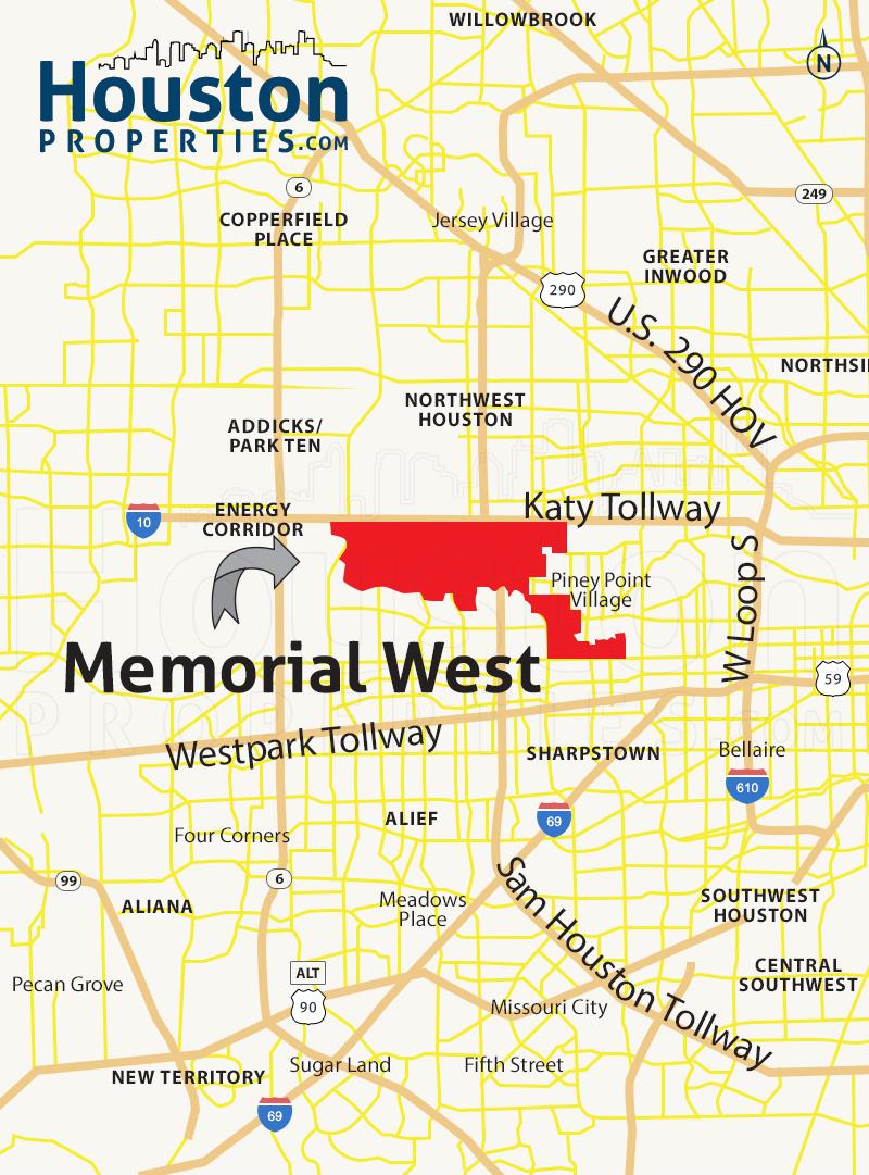 Memorial West Map