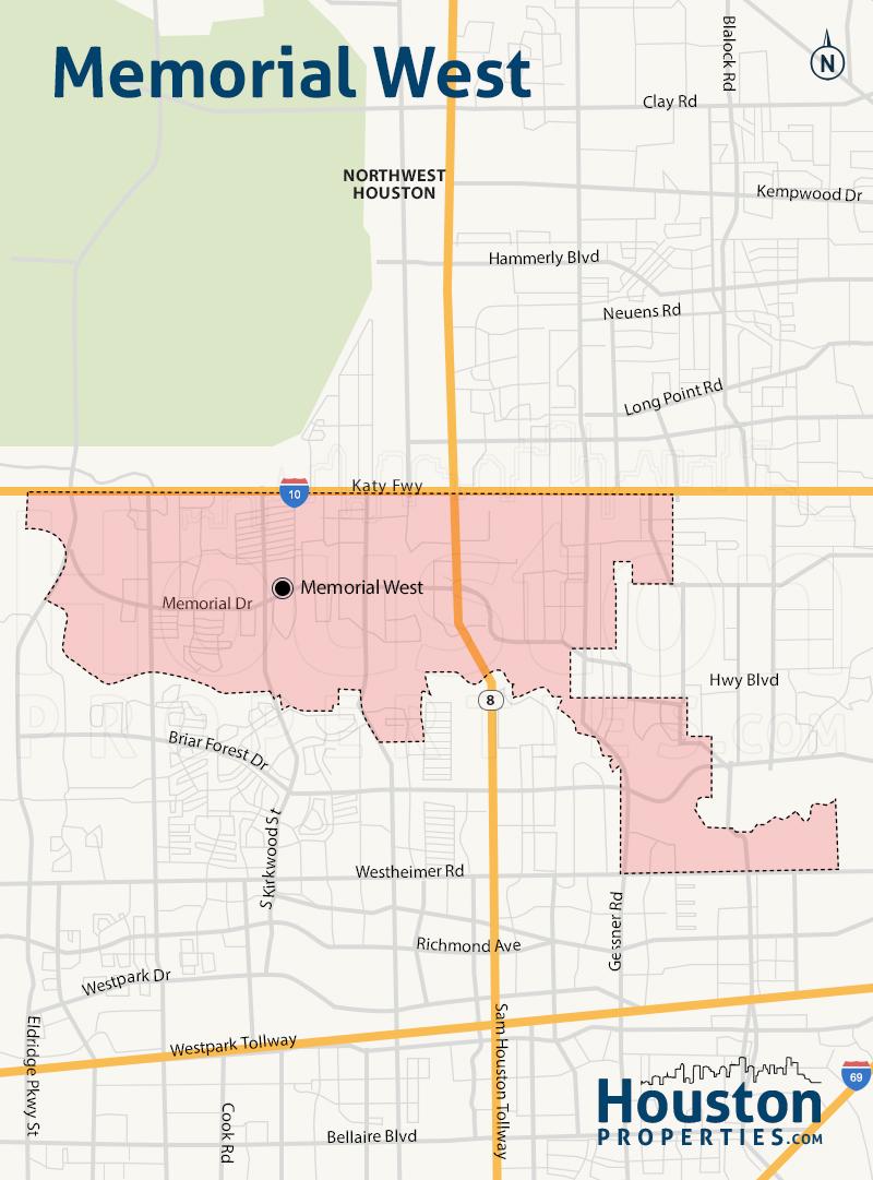Map of Memorial West