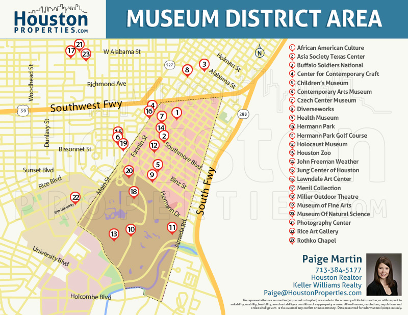 Map of Rice / Museum District