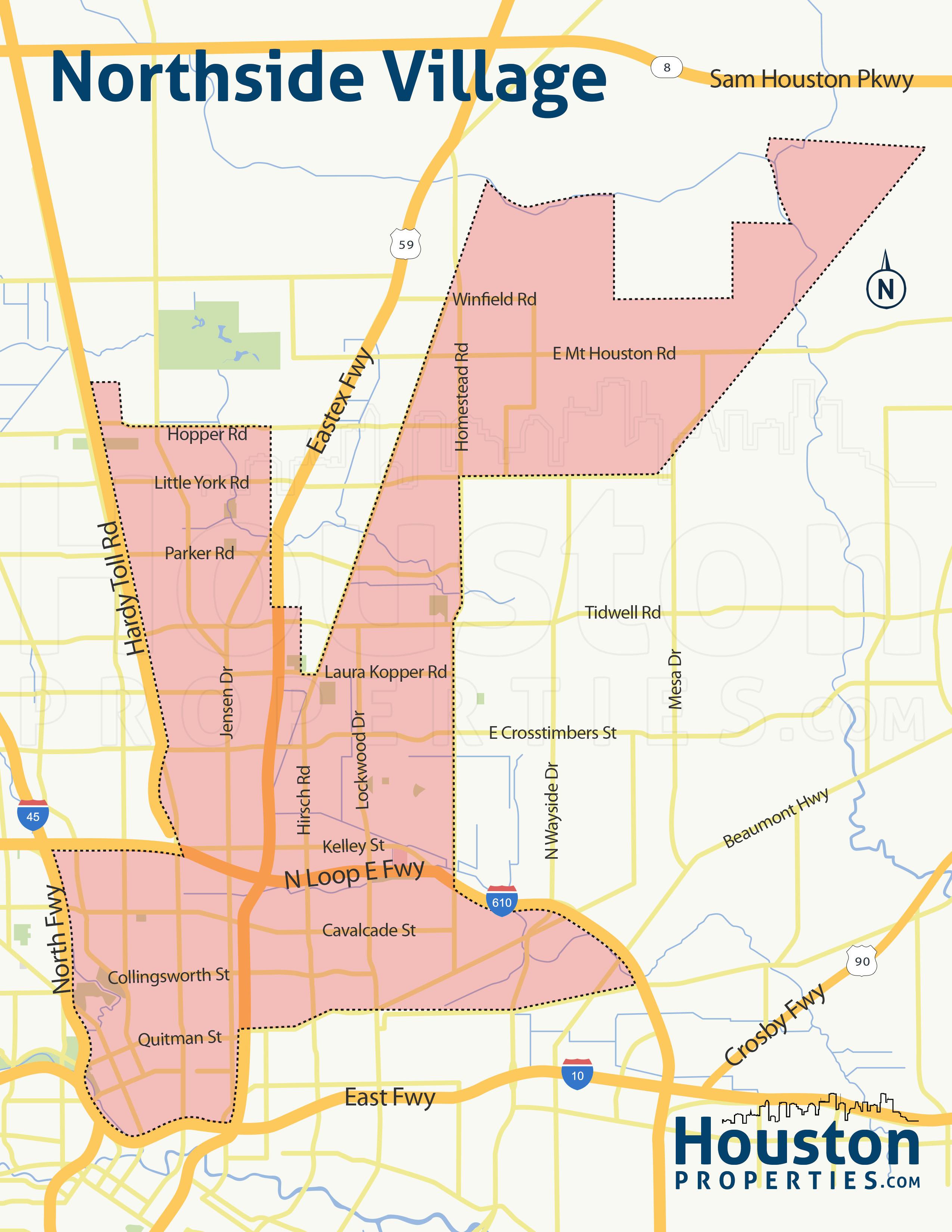 Map of Northside