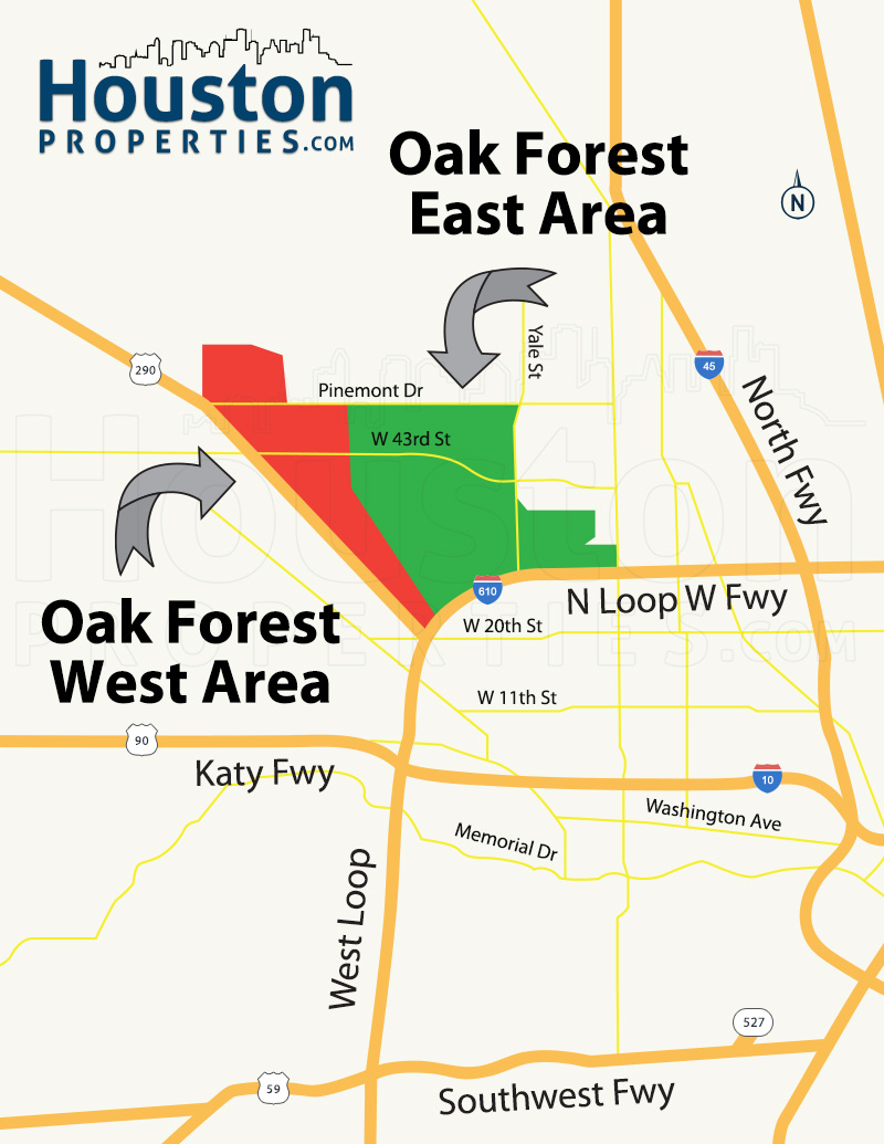 Oak Forest Map