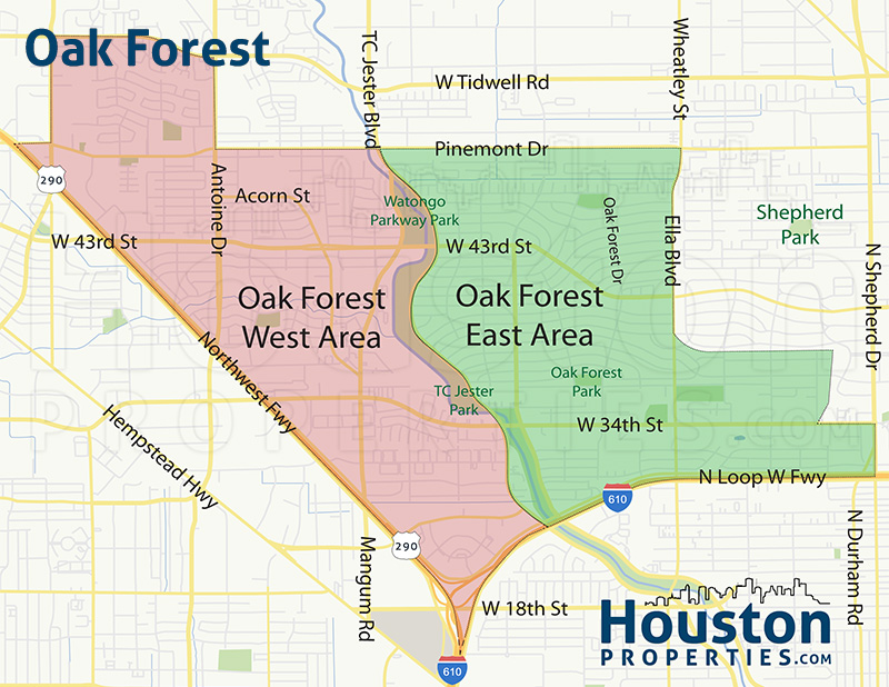 Map of Oak Forest