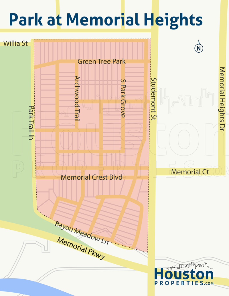 Map of Park At Memorial Heights