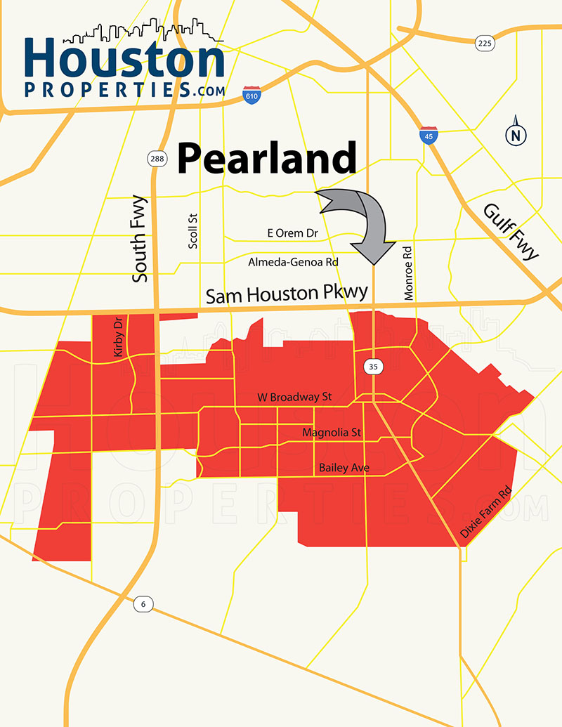 Pearland Map