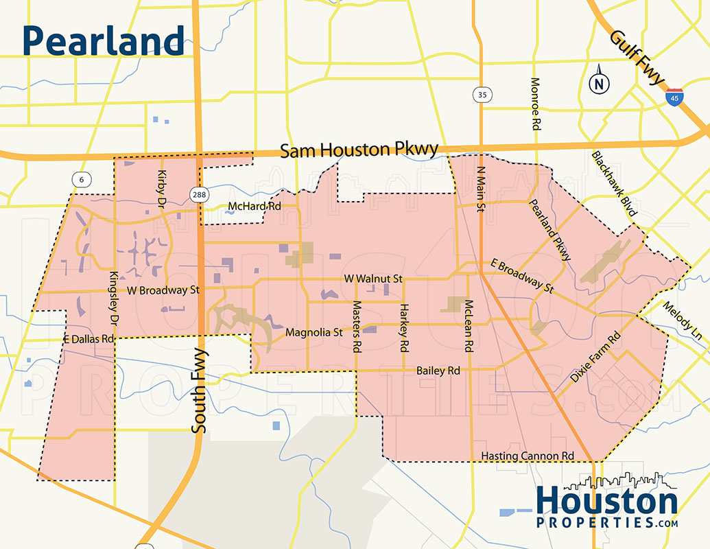 Map of Pearland