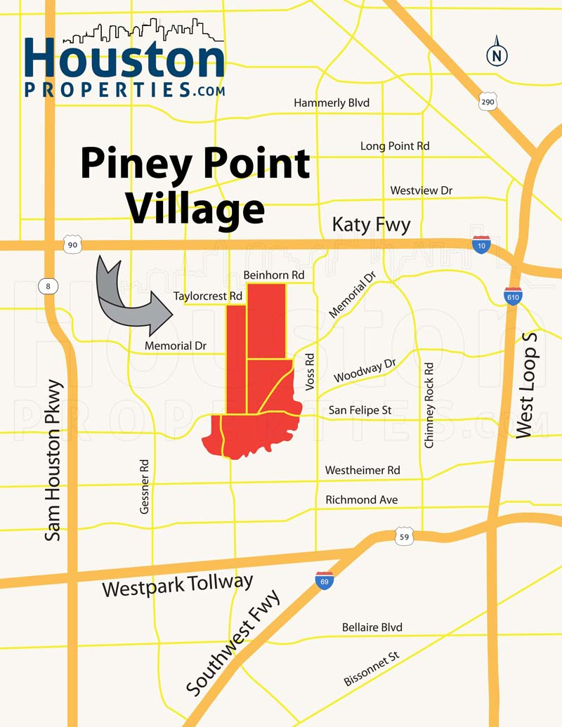 Piney Point Map