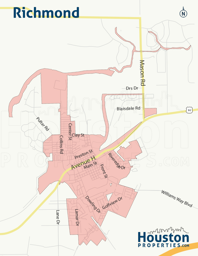 Map of Richmond