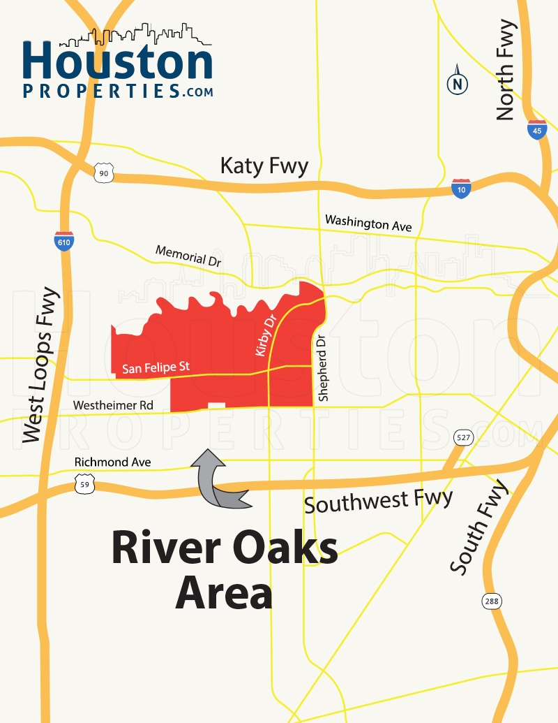 River Oaks Map