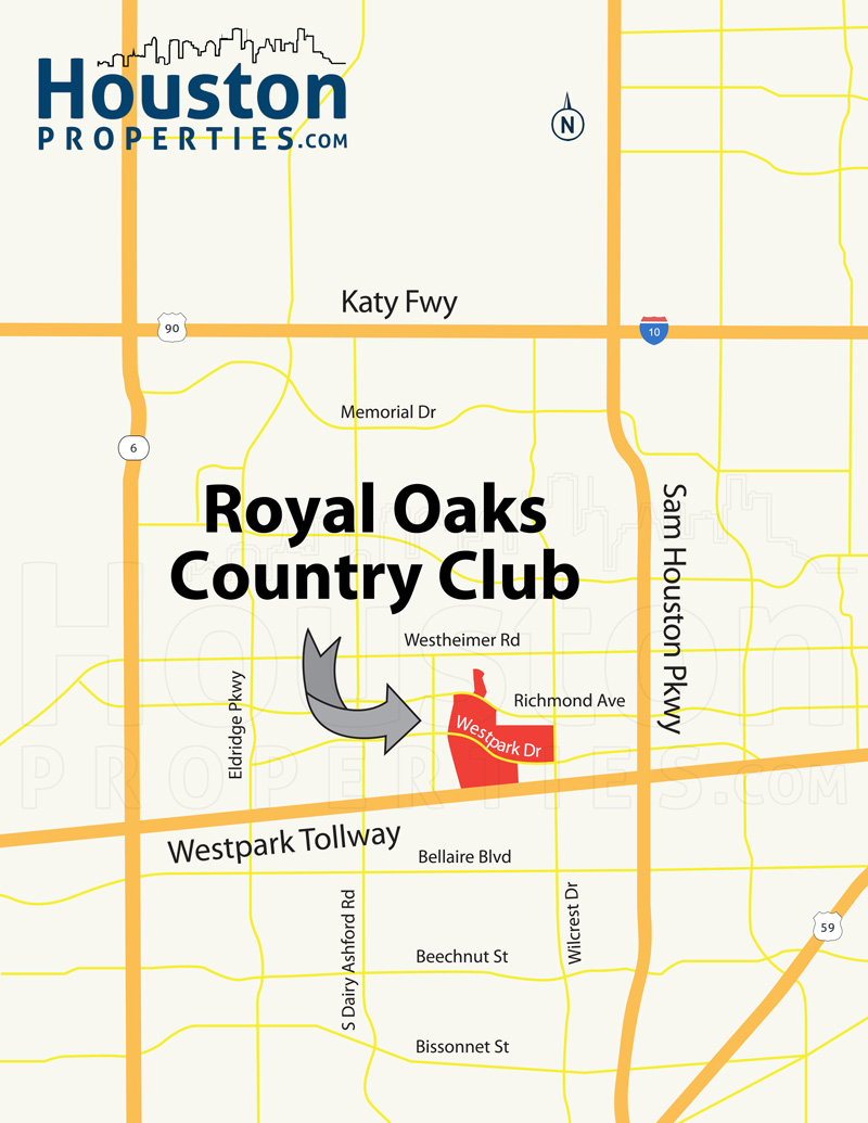 Royal Oaks Country Club Map